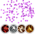 1 Box Maple Leaf Glitter Paillette Ultra-thin Colorful Nail Sequins Manicure Nail Art Decoration