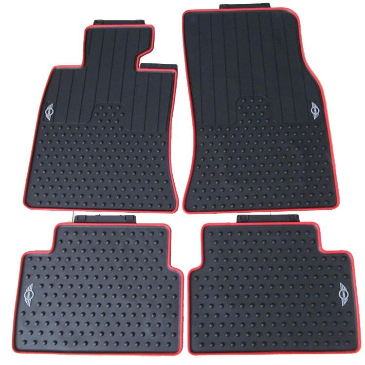 no odor latex carpets waterproof non slip easy clean special car floor mats for MINI COUNTRYMAN Mini SUV antiskid automobile