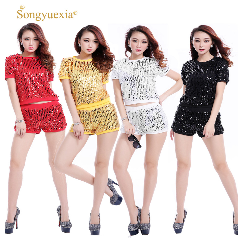 Girls GENERATION 2017 Paillette Dshiphop Modern Dance Costume Hip-hop Clothes Woman Sequin Stage Dance Clothes