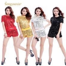 Girls Generation 2019 paillette dshiphop moderno traje de la danza hip-hop ropa mujer lentejuelas danza de la etapa ropa
