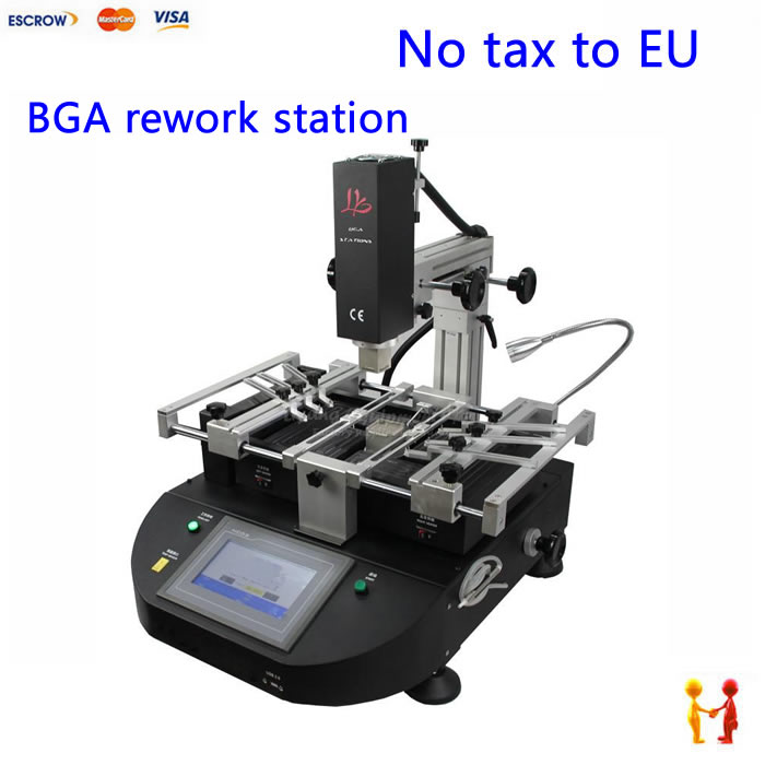 (NO TAX TO EU)BGA soldering station LY5830 touch screen hot air 3 zones 4500W K type thermocouple USB port