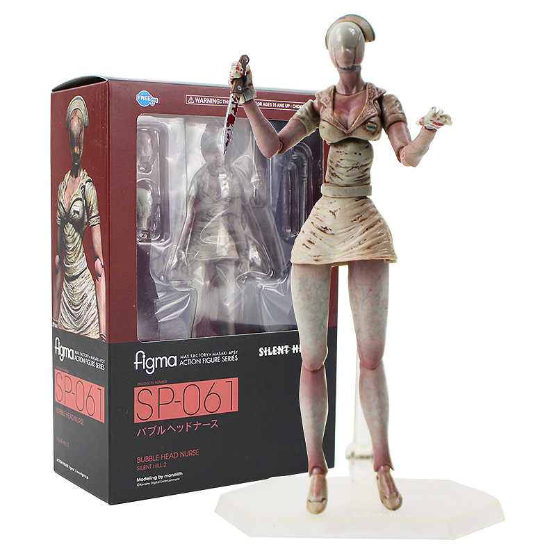 15 cm Silent Hill 2 Bolha Cabeça Enfermeira Figma SP-061 Horror Filme PVC Action Figure Collectible Modelo Toy