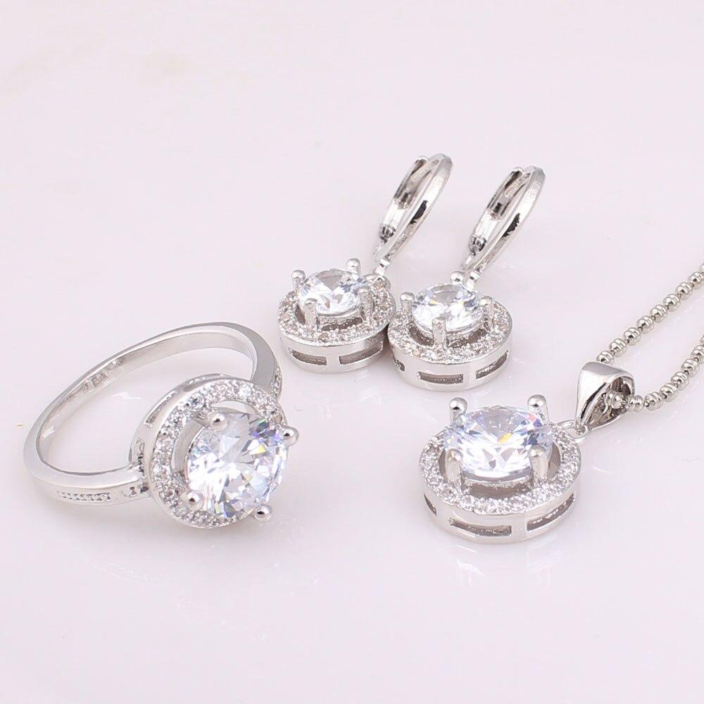 3pc sets necklace earring ring women weddings