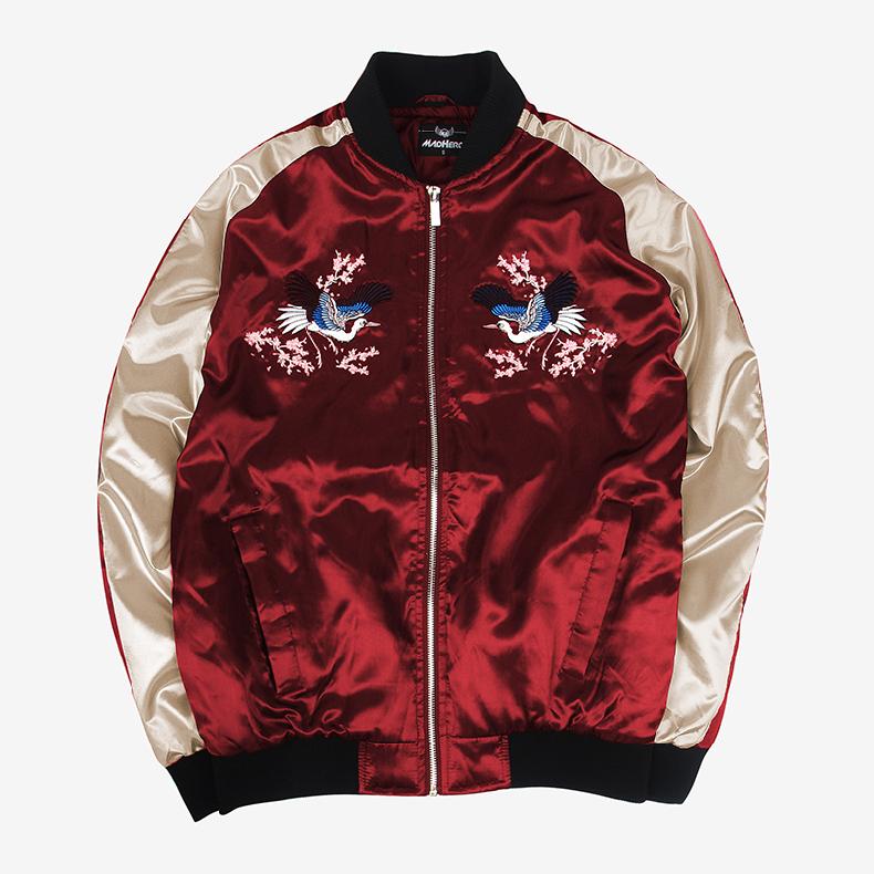 Custom Embroidered Satin Jacket 6
