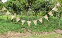 3.7 m APPENA SPOSATO Cuore Bianco Vintage Rustico Tela Dell'assia Banner wedding Bunting Decorazioni di Nozze HF11