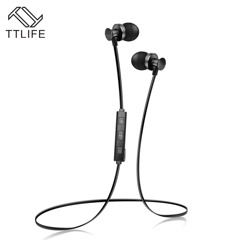TTLIFE Wireless Bluetooth Earphone Bluetooth Headset Sport Running Stereo Bass Noise Reduction Earbuds With Mic 6pcs cap top cap station for epson stylus 7600 9600 solvent based ink printer capping
