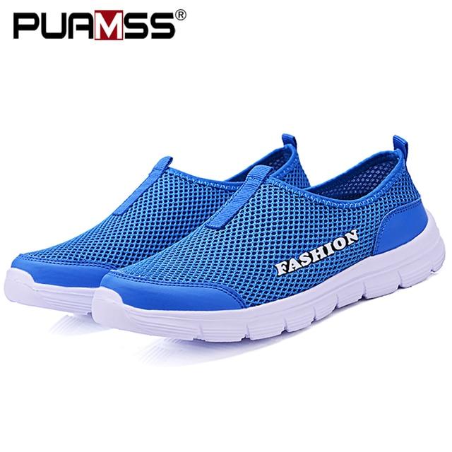 Verão nova mulher sandálias de malha de ar sapatos casuais leves respirável água deslizamento-em sapatos femininos tênis sandalias mujer