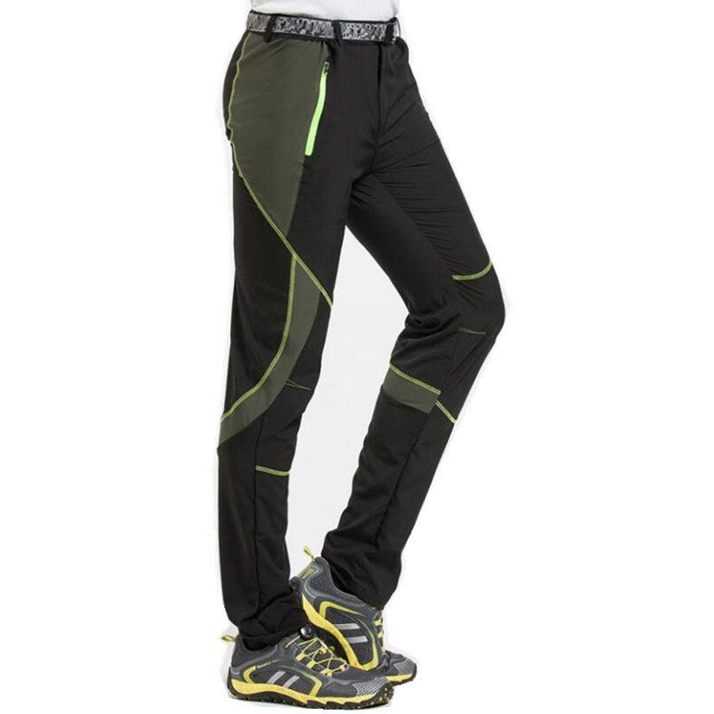 Quick dry outdoor waterproof pants mens thin sport softshell pants slim trekking camping trousers elastic hiking pants pius size