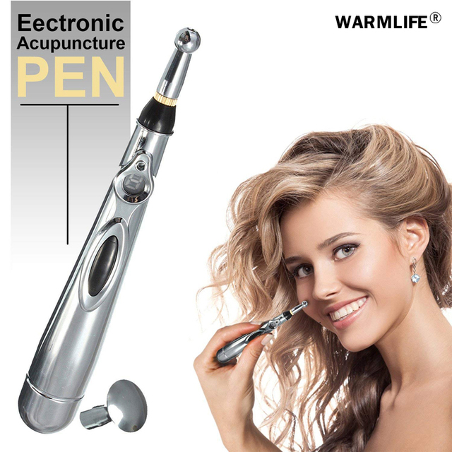 Newest Electronic Acupuncture Pen Electric Meridians Laser Therapy Heal Massage Pen Meridian Energy Pen Relief Pain Tools