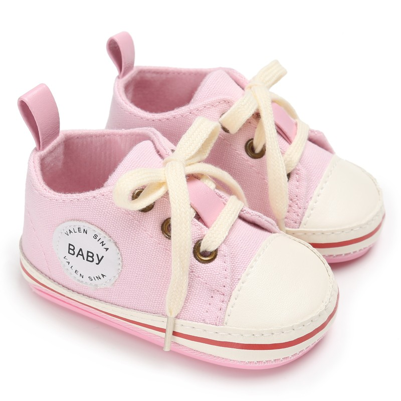 Baby Shoes Winter 2017 Infant Tollder Canvas Crib Shoes Lace-up Baby Boys Girls Sneaker Prewalker 0-18M