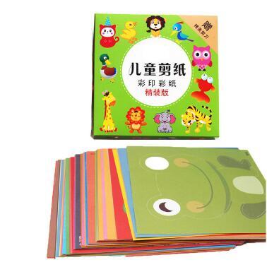 96 листов ручной работы бумажная вырезаемая книга крафт-бумага Детский Набор для творчества ручная работа книга Скрапбукинг Бумажные Игрушки для детей Обучающие игрушки WYQ - Цвет: 96pcs cartoon