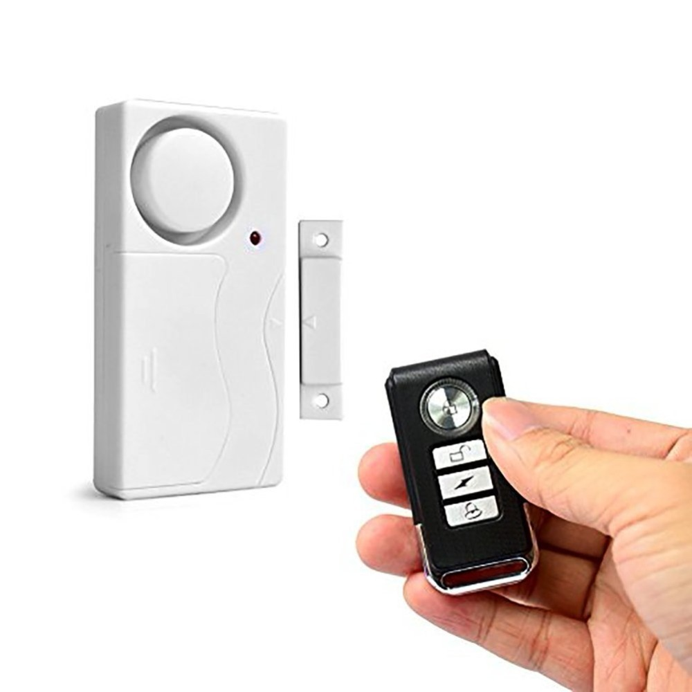 105dB Wireless Door/Window Security Voice Alarm Remote Control & Magnetic Sensor Anti-Theft Home Security Entry Burglar Alarm