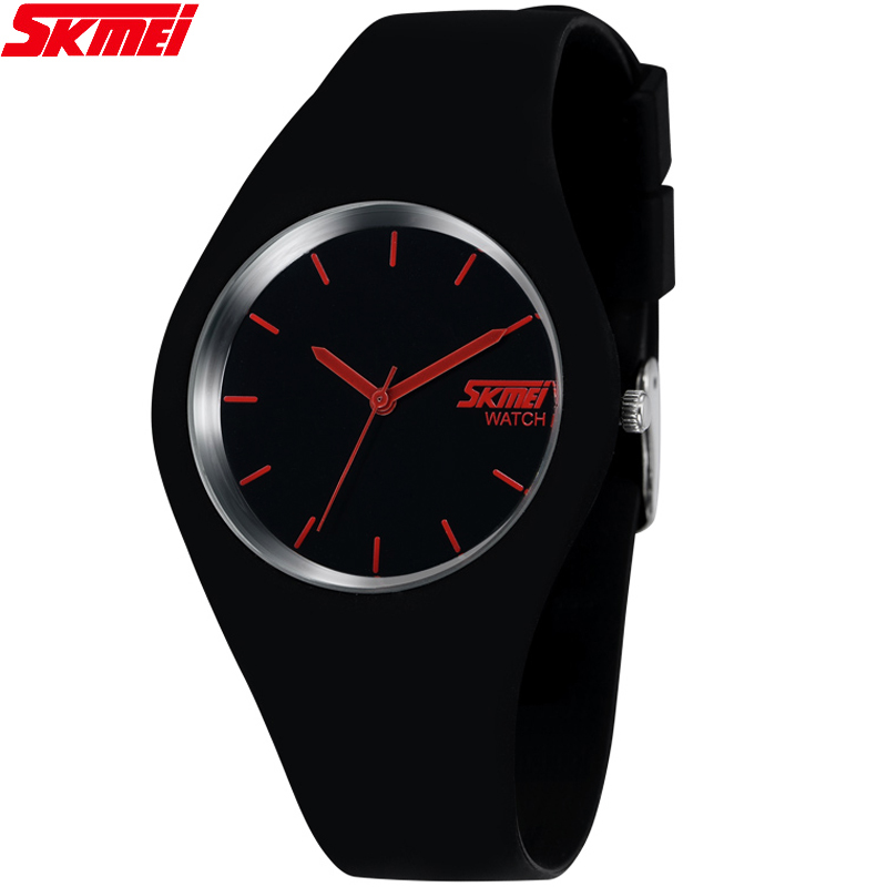 2017 Skmei Quartz-watch Fashion Men Casual Watches Quartz Watch Women Waterproof Jelly Female Clock Hours Ladies Women Watches skmei 1078 men quartz watch