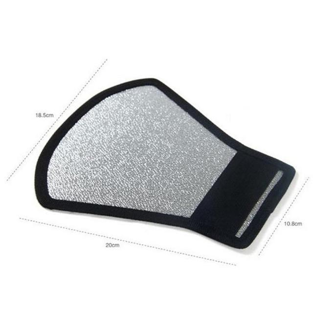 2-in-1 Silver/White Camera Flash Diffuser Softbox Photo Flash Light Reflector For Canon Cameras 11*18*20cm