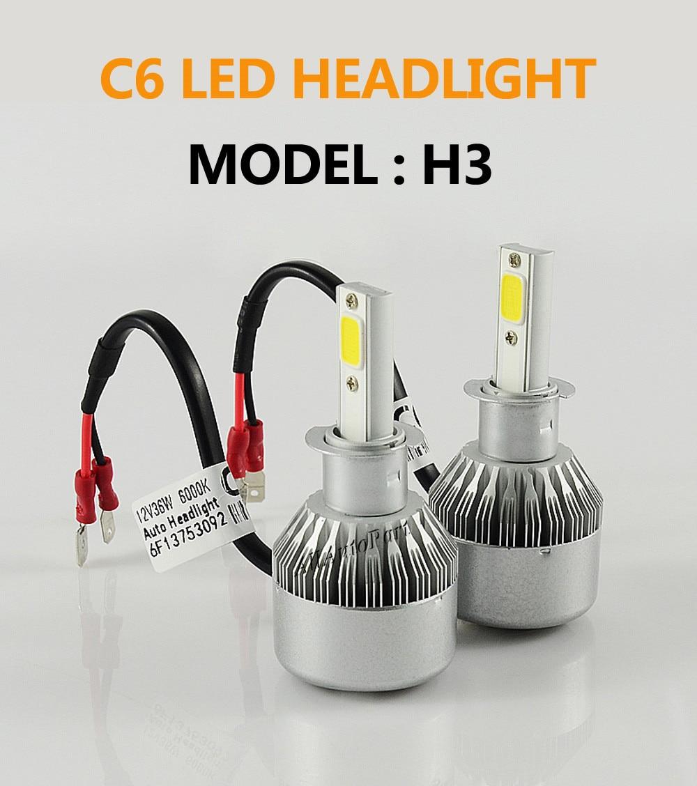1 satz 72 watt 7600LM LED Scheinwerfer Lampen H1 H3 H4 H7 H8/H9/H11 H13 880 9006 HB4 Für toyota opel astra h golf 4 passat b6 mazda 6 vw
