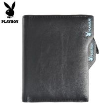 Luggage Bags - Wallets - Playboy Coin Pocket Wallets 2018 Hot Fashion Men Wallet ID Card Holder Purse Clutch With Zipper Men Wallet With Coin Bag Gift