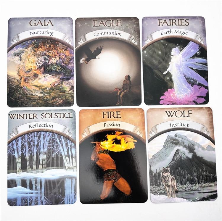 English Magic Oracle Cards Earth Magic read Fate Tarot Card Game Divination Board game  48pcs/set 1