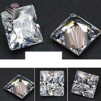 YanRuo #4447 500 adet 4mm unfoiled Kare Beyaz Parlak Kübik Zirkonya Büyük Kristaller DIY Düğün 3D için Tırnak taş