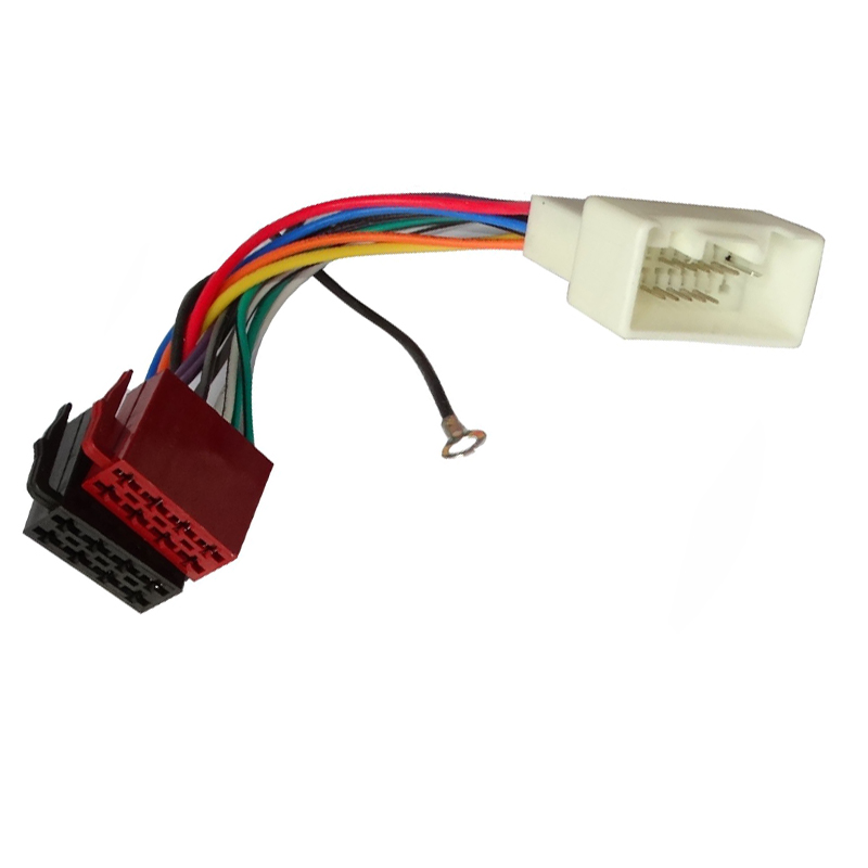car auto radio stereo wiring loom iso cable harness ... car stereo radio wiring harness oldsmobile 1858 wire adapter plug