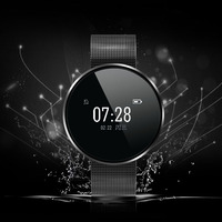 Heart Rate Blood Pressure Health Monitor Bluetooth Wristband Touch Screen Pedometer Fitness Tracker For Android IOS
