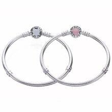 Ajax 100% 925 Sterling Silver Serpent Chain Heart Bracelet & Luxury Jewelry For Ms