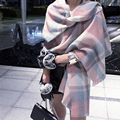 Autumn Winter Fashion oversize Warm plaid fitness Imitate cashmere scarf For Women lady shawl  Pashmina Dual effects 190*65cm