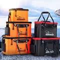 Loogdeel Tragbare Zipper Angeln Eimer Outdoor Klapp EVA Angeln Tasche live fisch eimer 5 Größen Camping Wandern Angeln Tasche