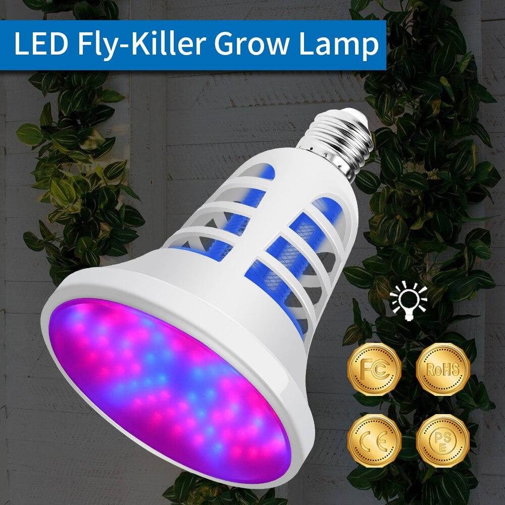 E27 Cresce A Luz LED Anti Mosquito Lâmpada de Espectro Completo Planta LEVOU 220 V Growbox USB 5 V Voar Zapper Inseto assassino LEVOU Crescer Lâmpada 110 V