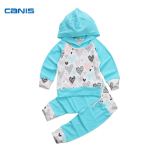 Autumn Toddler Infant Baby Boy Girl Clothes Set Hooded Tops Long Sleeve Cotton Cute Long Pants Cute Warm Clothing Outfit Zero-3Y