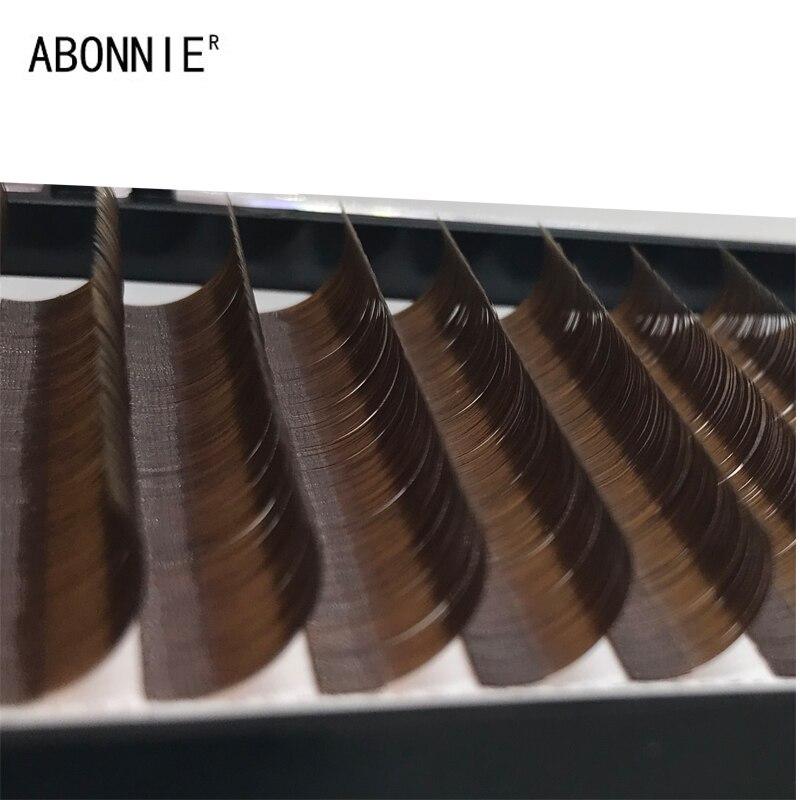 Abonnie 1pc 8-15 16 rows dark brown False eyelash eyelashes individual extension false eyelashes eyelash extension Eyelashes