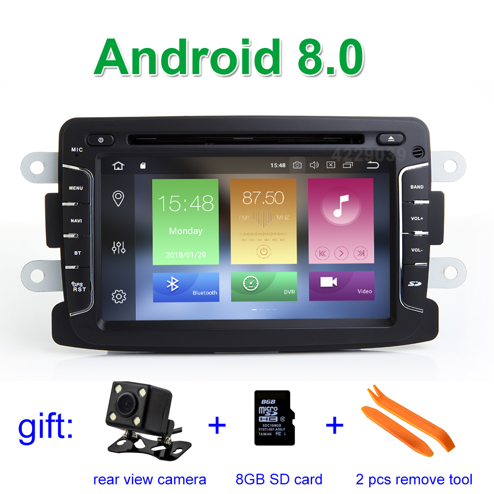 IPS screen Android 8.0 CAR DVD Multimedia Player Radio GPS for Dacia Sandero Duster Renault Captur Lada Xray Logan 2 android 7 1 1 car dvd player gps glonass navigation for renault dacia duster sandero lodgy dokker multimedia video radio stereo
