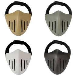 Одноцветное Цвет Открытый поле Тактический защитную маску Half-лицо ТПУ защитный Шестерни Охота Открытый CS поле защитную маску