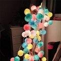 Mejores ventas de 20 Unids/lote Algodón Llevó Luces de Cadena de Bolas De Navidad Decoración de Navidad Iluminación Weeding Decoración Del Partido Bola de Luz