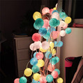 Top selling 20Pcs/lot Cotton Led Christmas Balls String Lights XMas Decoration Lighting  Weeding Party Decoration Light Ball