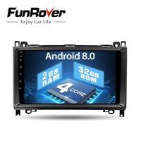 Funrover 9 HD Android 8,0 2 din автомобильный DVD gps магнитофон для Mercedes Benz/Sprinter/ w169/B200/B класс автомобиля Радио авторадио RDS