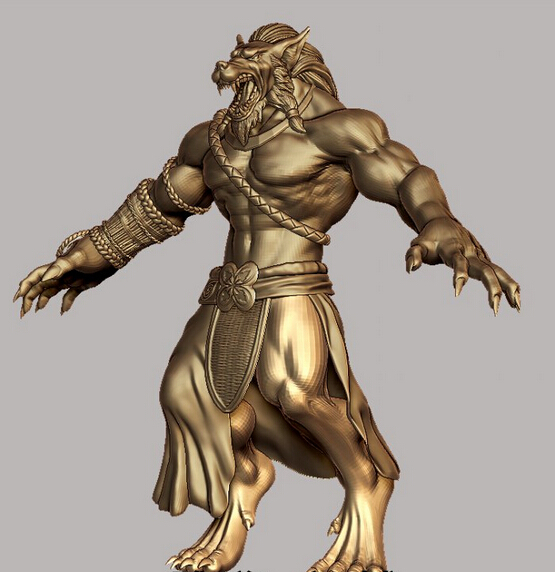 3d Model Relief  For Cnc In STL File Format Werewolf