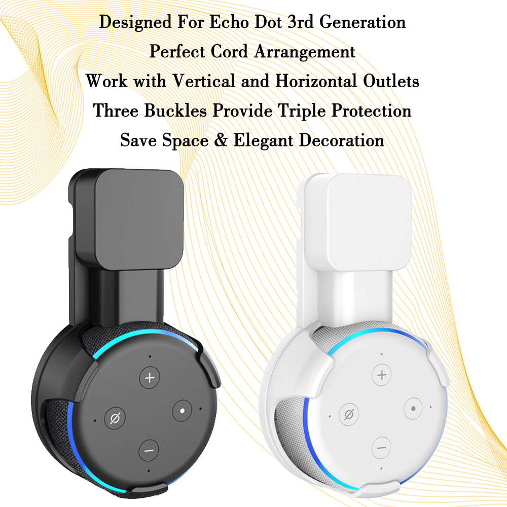 New Outlet Wall Mount Hanger Holder Stand Space Saving for Amazon Alexa Echo Dot 3nd Generation and Other Round Voice Assistant in Phone Holders Stands from Cellphones Telecommunications