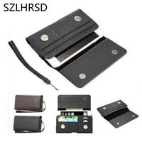 SZLHRSD Men Belt Clip Leather Pouch Waist Bag Phone Cover For Oukitel Mix 2 Nomu S10