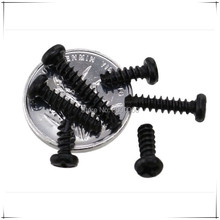 M2 M2.3 M2.6 M3 Black Carbon Steel Philip Round Head Cutting Tapping Screws 1000pcs/lot