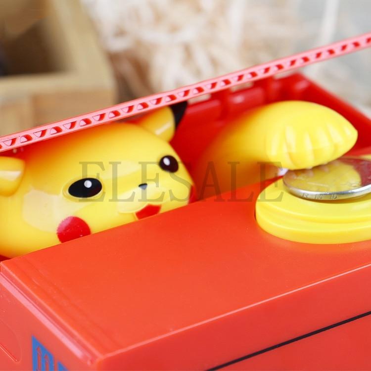 Image 4 - New Cute Pokemon Auto Steal Coin Piggy Bank Electronic Plastic Money Safety Box Coin Bank Saving Box For Kids Birthday Giftbox brandbox coinbox box -