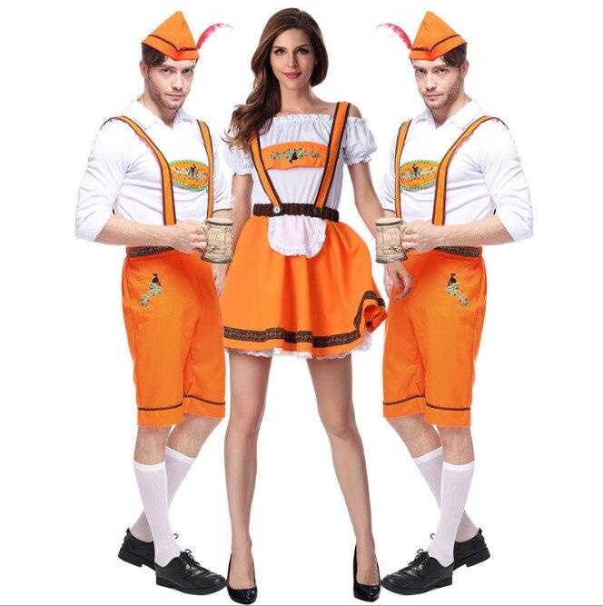 Halloween Costumes Pour Hommes Et Femmes Chaude Fête de La Bière Allemande Costume Adulte Oktoberfest Bière Festival Cosplay Costumes Costumes