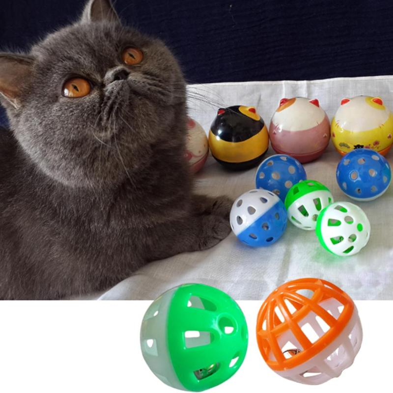 Dog Supplies Pet Cat Kitten Play Balls With Jingle Lightweight Bells Pounce Chase Toys SP Toys