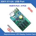 XY-UA HC-1 СИНЬИ USB Порт полноцветный СВЕТОДИОДНЫЙ плату управления u-диск асинхронный светодиодный дисплей плата контроллера с 4 * hub75b порт