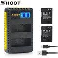 Снимать 2 шт . EN EL14 EN-EL14 EN-EL14A RU EL14A Батарея + ЖК-дисплей USB Dual Зарядное устройство для Nikon D3100 D3200 D5100 D5200 D5300 P7000 P7100
