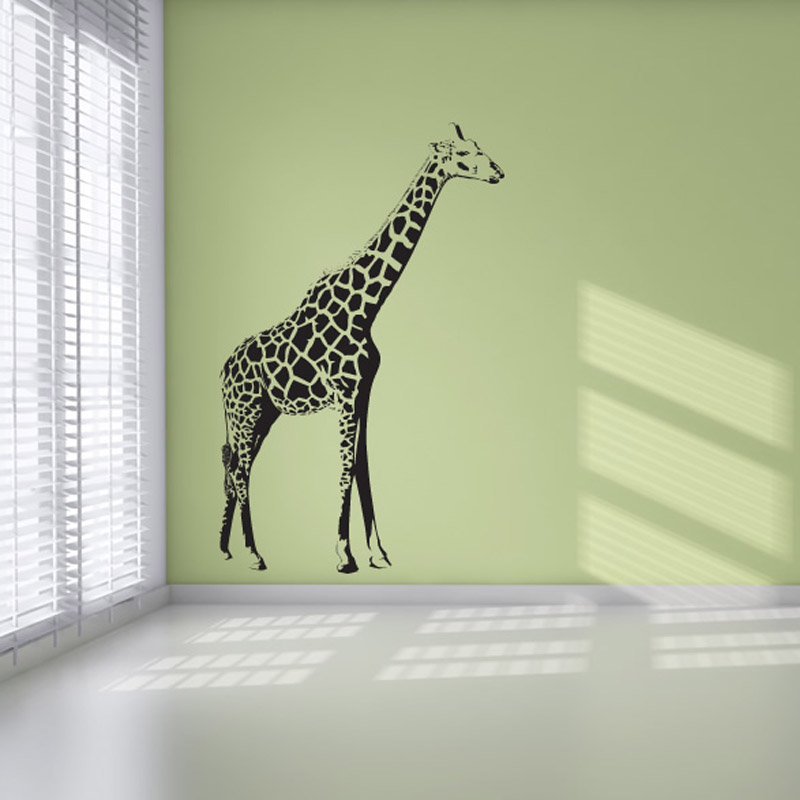 Hot Sale Home Decor Self Adhesive Standing Up Giraffe Wall Sticker ...
