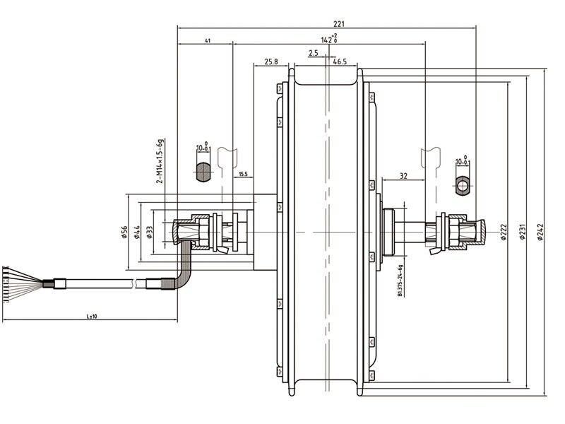 Top Free Shipping 1500W E-bike Electric Bike Conversion kit Driect Drive Motor MXUS 48V 52V 13AH 17AH Hailong Battery LCD 5
