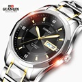 Original Brand GUANQIN Men Mechanical Watch Luxury Watch Luminous Waterproof Watch Stainless steel Wristwatch relogio masculino