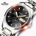 Original Brand GUANQIN Men Mechanical Watch Luxury Watch Luminous Waterproof Watch Stainless steel Wristwatch relogio masculino