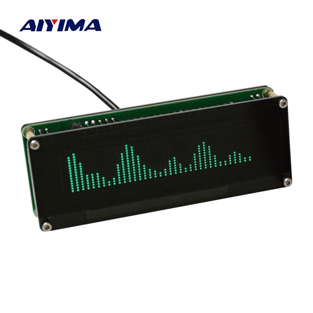 Aiyima Nouvelle VFD Musique Spectre Audio Indicateur 15 Niveau Indicateur VU-Mètre Précision Horloge Vitesse Réglable Mode AGC Avec Cas