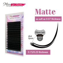 Misslamode Matte flat ellipse lashes extension individual eyelashes extensions lash supplies maquiagem